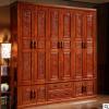 仿古雕花实木衣柜 卧室整体大衣柜5门对开衣橱 明清中式古典家具