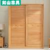 榉木衣柜两门推拉式平移衣橱现代简约实木衣柜中式榉木大衣橱衣柜