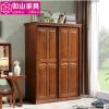 实木衣柜二门推拉1.5米中式橡胶橡木两门衣橱卧室家具套房批发