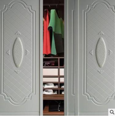 欧式平开门整体衣柜定制北欧模压衣柜衣帽间推拉门 厂家直销定制