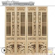 厂家加工定制古建筑实木门窗 免费设计中式仿古室内外门窗