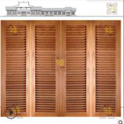 厂家加工定制免费设计新中式风格实木百叶门折叠百叶门窗