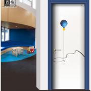 西格幼儿园木门厂家供应教室用门艺术中心隔音门学校卡通班级门