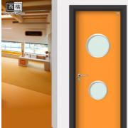 新款创意幼儿园单开门 学校课室室内门教室隔音门双色可定制