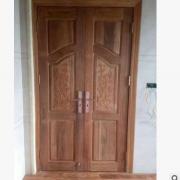 印尼菠萝格实木双开大门 别墅复式门 平开门 欧式门 厂家直销