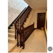 沙比利实木楼梯厂家直供 专注实木楼梯 别墅楼梯 支持定制