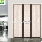 欧亚居铝木生态门简约时尚双开门整套家装木门夹板材质生产厂家