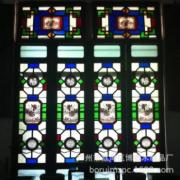 实木玻璃工艺满洲窗 中式玻璃门窗 岭南特色满洲窗 广州厂家