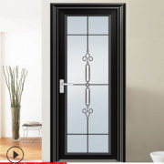 佛山厂家定制钛镁铝合金钢化中空玻璃平开门浴室卫生间室内厕所门