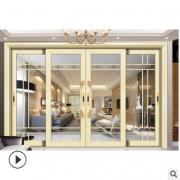 佛山厂家定制阳台隔音推拉门钢化中空玻璃钛镁铝合金厨房吊趟门