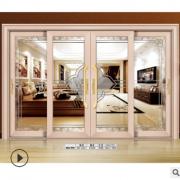 佛山厂家定铝合金推拉门工艺玻璃中空钢化玻璃厨房吊趟门阳台门