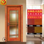 裕派木门定制纯原木门橡木门室内门平开门卧室门套装门实木烤漆门