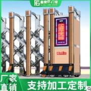 专业工厂电动伸缩门工业大门高速拉闸门不锈钢伸缩门电动闸门