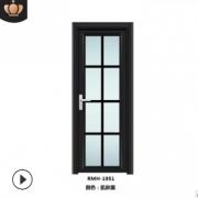 厂家直销铝合金门卫生间平开门厕所门浴室门双层钢化玻璃尺寸定制
