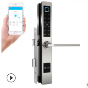断桥铝指纹锁fingerprint lock wifi智能锁蓝牙远程遥控蓝牙锁