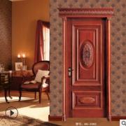 雕花原木门室内实木套装门欧式别墅房门现代烤漆门厂家直销卧室门