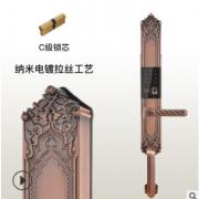富宇厂家直销oem别墅指纹锁防盗智能大门锁6508L密码锁
