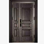 别墅铜铝门出售豪华精品铜铝门 防盗门 豪华家居双开铜铝门定制门
