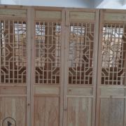 现货批发仿古门窗花格实木雕花门隔断屏风中式装修承接木制品工程