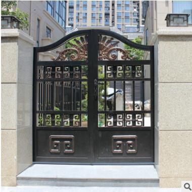 厂家定制批发铝艺庭院门欧式庭院门铝合金别墅大门铝合金门可定制