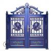长期供应铝艺双开入户大门 铝艺防盗大门 中式铝艺大门