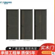 原木材料实木复合烤漆木门室内整套静音欧式木门实木门烤漆门定制