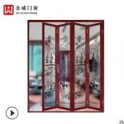 厂家批发直销钛镁铝合金折叠门工程来样定制折叠整套门工厂招代理