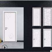 厂家直销实木复合卧室门烤漆门房间门房门室内门家庭木门定制