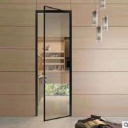 网红极窄平开门推拉门艺术玻璃夹丝玻璃定制16极窄平开门2.0系列