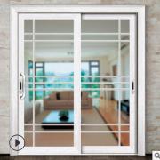 推拉门厨房推拉门 玻璃推拉门阳台卫生间窄框门玻璃移门钛镁合金