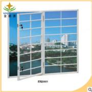 现货直销断桥铝合金门窗 别墅铝合金门窗 铝合金无焊缝门窗