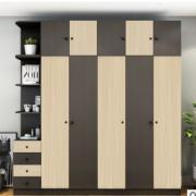 简约现代北欧衣柜经济型小户型柜子组合卧室衣橱带镜子木质四五门