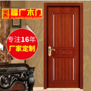 福广门厂生产橡木拉丝开放木门 橡木池板门 橡木深雕门