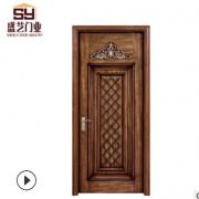 工艺复合烤漆实木门 雕花室内木门 防潮木质卧室门可定做