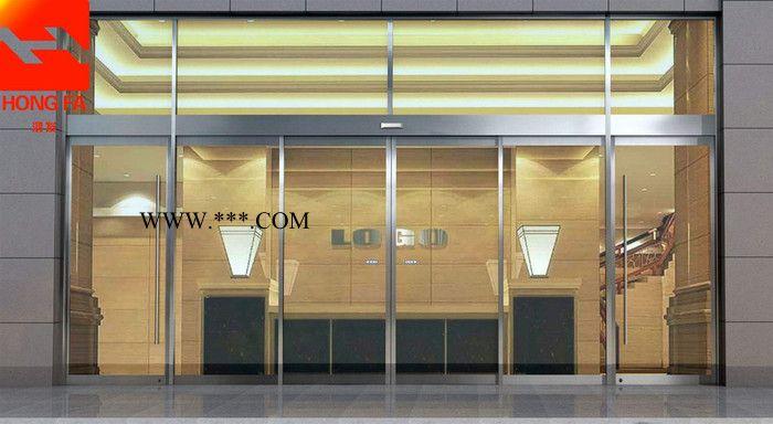 舟山玻璃门商场超市酒店自动平滑门玻璃感应门保温膈音自动感应玻璃门