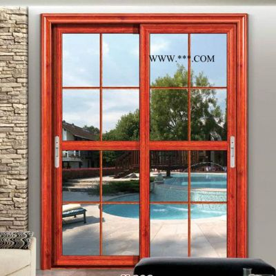 佛山 定制阳台推拉门 铝合金厨房移门 室内玻璃门 卧室门隔音