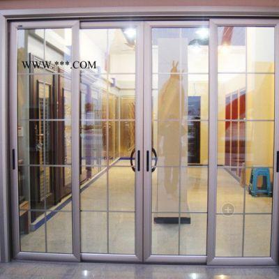 新款 阳台卧室大推拉大折叠 中空玻璃门双层钢化 硅钛镁铝合金