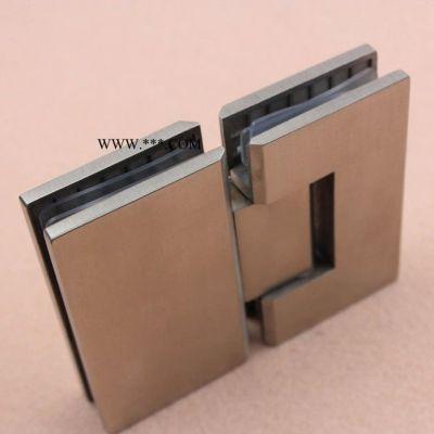 乐朗304不锈钢玻璃夹 浴室/淋浴房无框玻璃门铰链 合页