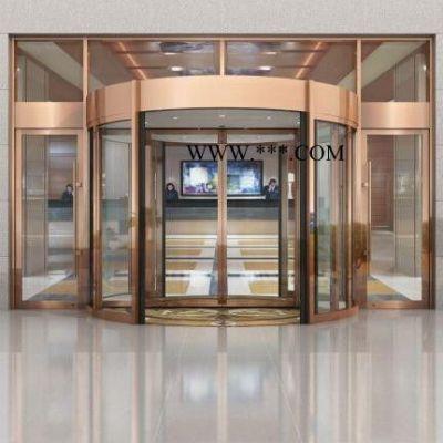 昆山旋转门 两翼旋转门定制 自动门安装销售 玻璃门批发