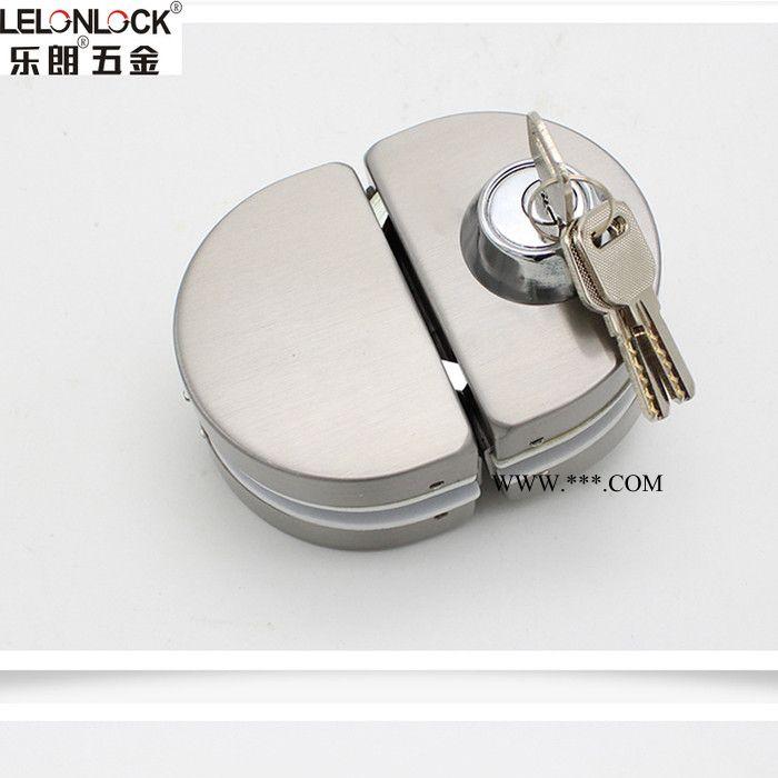 RGL-1044双开门玻璃锁  双开 不锈钢玻璃门锁门玻璃锁半圆形玻璃锁 工程走量隔断玻璃门锁量多优惠
