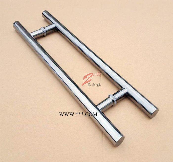 工厂直销定制广东不锈钢玻璃门拉手加厚圆管拉手对开门把手批发