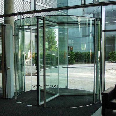 智汇门道 水晶旋转门 透明玻璃门 感应玻璃门 出口旋转门